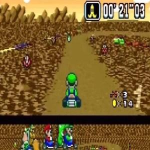 Piranha plants Choco Island 2 Super Mario Kart snes Nintendo