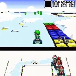 Icy lake Vanilla Lake 1 Super Mario Kart snes Nintendo