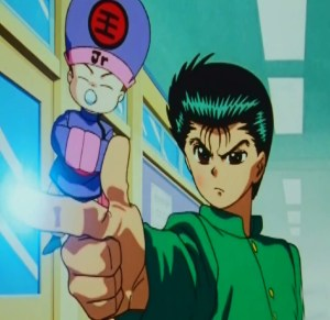 Yusuke Urameshi first spirit gun Koenma Yu Yu Hakusho anime Japan