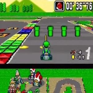 Mario Circuit 4 Red shell super Mario Kart snes Nintendo