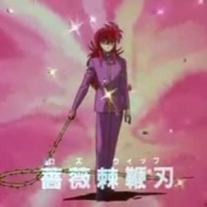 Kurama rose whip Yu Yu Hakusho anime Japan