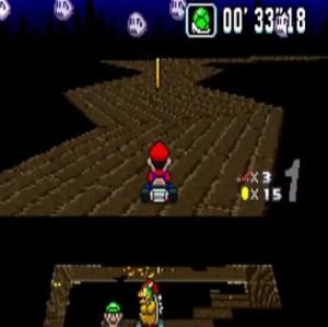 Super Mario Kart Ghost Valley 3 snes Nintendo