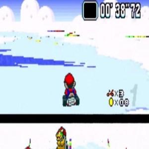 Super Mario Kart Vanilla Lake 2 snes Nintendo