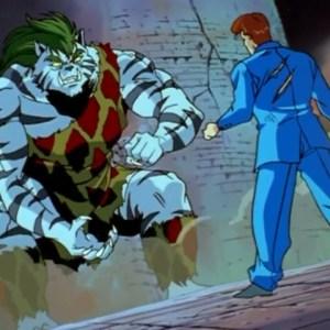 Kazuma Kuwabara VS byakko four saint beasts Yu Yu Hakusho anime Japan
