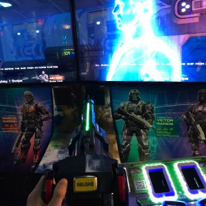 Dave and Buster's Greenville halo fire team raven