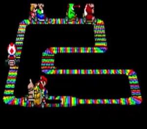 Rainbow road super Mario Kart snes Nintendo