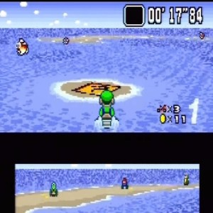 Luigi item box Koopa Beach 1 super Mario Kart snes Nintendo