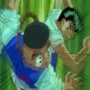 Yusuke vs rando Yu Yu Hakusho anime Japan genkai tournament