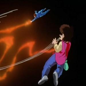 Kazuma Kuwabara VS rinku dark tournament Yu Yu Hakusho anime Japan