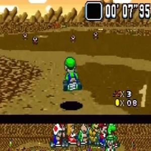 Choco Island 2 Luigi super Mario Kart snes Nintendo