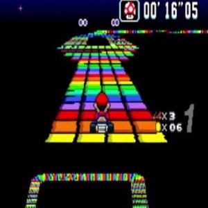 Super Mario Kart snes Nintendo rainbow road
