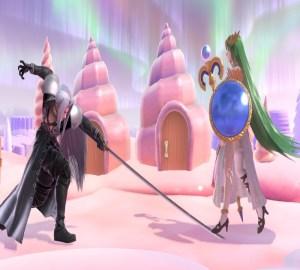 Palutena VS Sephiroth Super Smash Bros. Ultimate Nintendo Switch