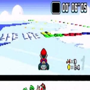 Vanilla Lake 2 ice blocks super Mario Kart snes Nintendo