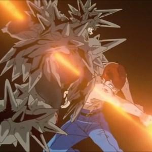 Kazuma Kuwabara defeats risho Yu Yu Hakusho anime Japan