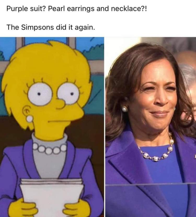 Memes Lisa Simpson President of the United States Kamala Harris vice president of the United States