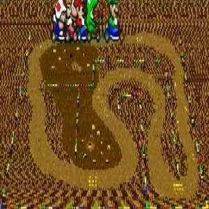 Choco Island 1 super Mario Kart snes Nintendo