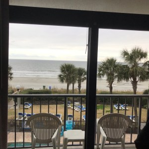 Grande Shores ocean resort hotel balcony and chairs Myrtle Beach south carolina