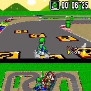 Mario Circuit 4 item box super Mario Kart snes Nintendo