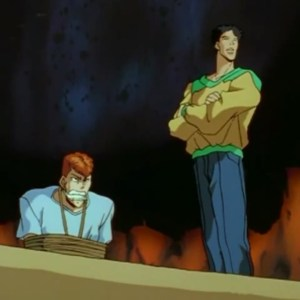 Kazuma Kuwabara and gourmet elder toguro Yu Yu Hakusho anime Japan