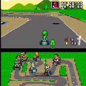Mario Circuit 4 Luigi and yoshi super Mario Kart snes Nintendo