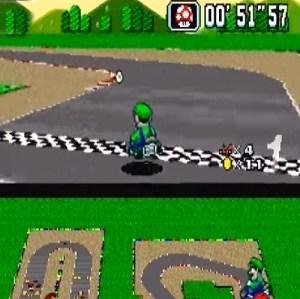 Mushroom item Mario Circuit 3 super Mario Kart snes Nintendo