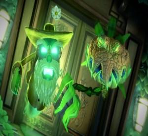 Plant monster Dr. Potter Luigi's Mansion 3 Nintendo Switch