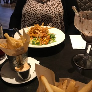 Hard Rock Cafe Myrtle Beach south carolina salad and French fries