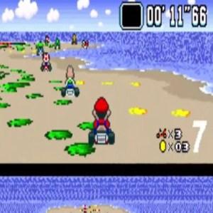 Koopa Beach 2 Koopa troops super Mario Kart snes Nintendo