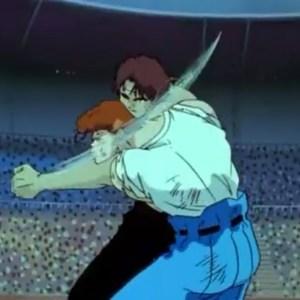 Kazuma Kuwabara VS Ryo Dr ichigaki team Yu Yu Hakusho anime Japan