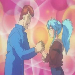 Kazuma Kuwabara falls in love with botan Yu Yu Hakusho anime Japan