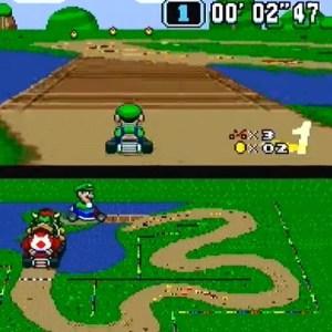 Luigi super Mario Kart snes Nintendo donut Plains 2