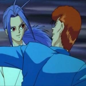 Kazuma Kuwabara VS shishiwakamaru Yu Yu Hakusho anime Japan dark tournament