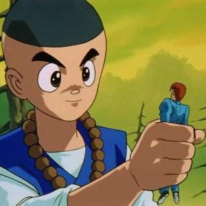 Kazuma Kuwabara turned small by shorin rando Yu Yu Hakusho anime Japan genkai tournament