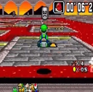 Super Mario Kart Bowser Castle 3 Nintendo snes