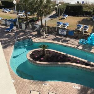 Lazy river pool Grande Shores ocean resort hotel Myrtle Beach south carolina