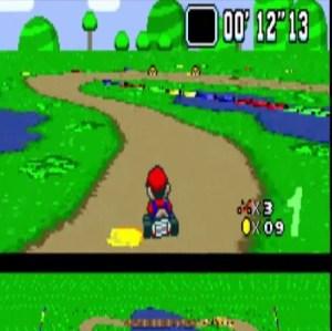 Donut Plains 3 jumping moles super Mario Kart snes Nintendo