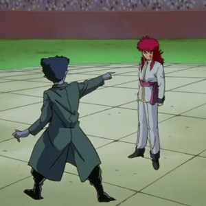 Kurama vs roto dark tournament Yu Yu Hakusho anime Japan