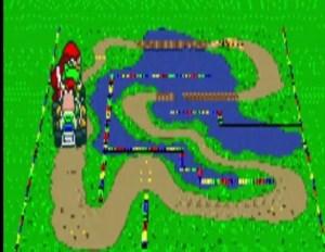 Donut Plains 3 super Mario Kart snes Nintendo