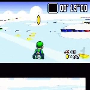 Gold coin Vanilla Lake 1 Super Mario Kart snes Nintendo