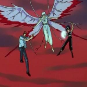 Kurama hiei kuwabara flying demon world Yu Yu Hakusho anime Japan