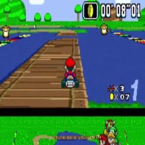 Super Mario Kart Donut Plains 3 snes Nintendo