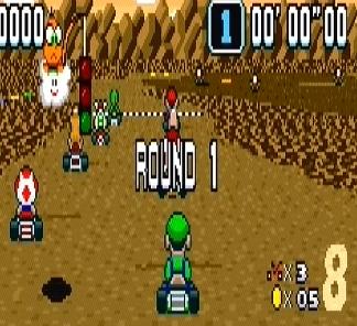 Choco Island 1 super Mario Kart Luigi snes Nintendo
