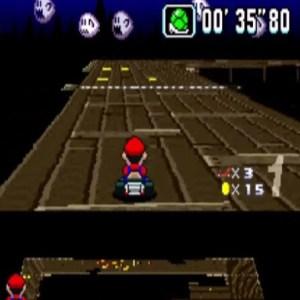 Ghost Valley 3 green shell super Mario Kart snes Nintendo