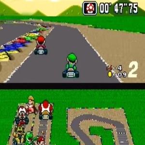 Mario and Luigi Mario Circuit 3 super Mario Kart snes Nintendo