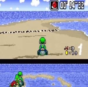 Red shell Koopa Beach 1 super Mario Kart snes Nintendo