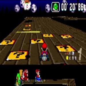 Ghost Valley 3 item boxes super Mario Kart snes Nintendo