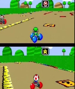 Super Mario Kart battle mode snes Nintendo