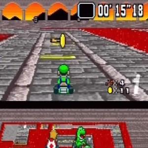 Bowser Castle 3 Luigi super Mario Kart snes Nintendo