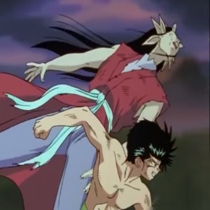 Yusuke Urameshi VS yomi demon world tournament anime Japan