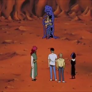 Kurama traps elder toguro in the sinning tree Yu Yu Hakusho anime Japan